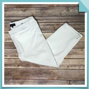 NYDJ White Skinny Capri Jeans  Size 10